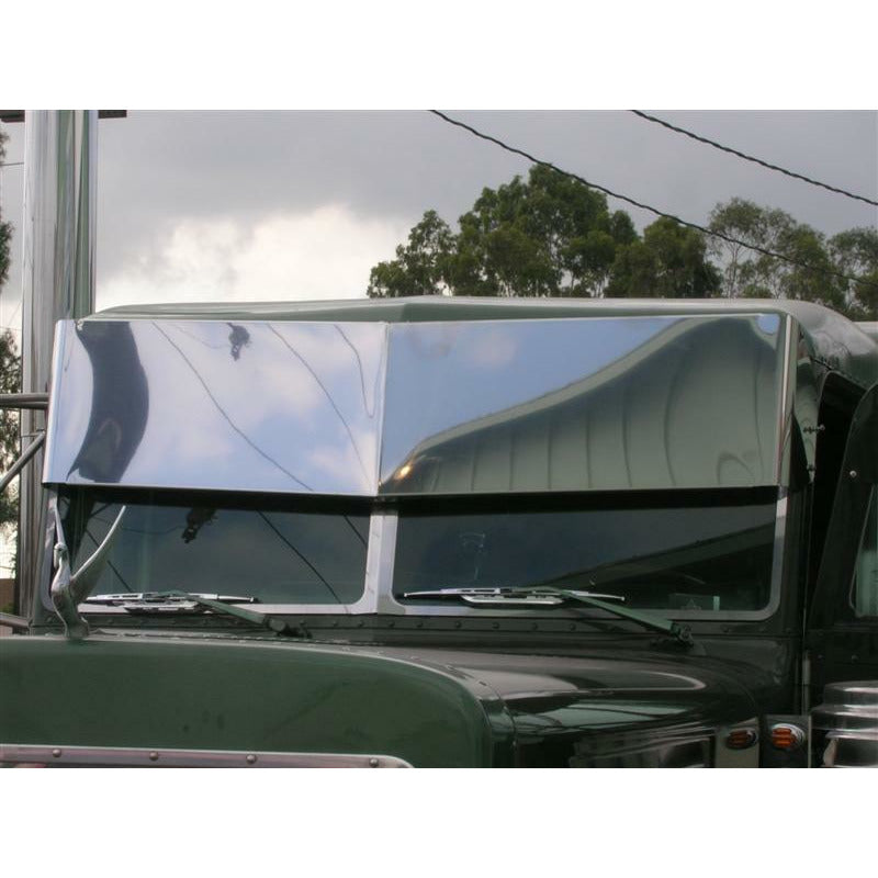 CUSTOM 14 INCH STAINLESS 1 PIECE BLIND MOUNT DROP VISOR