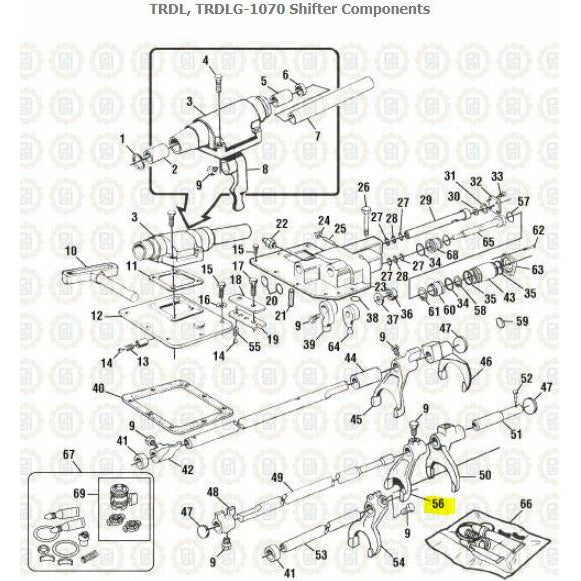 MACK TRDLG1070 TRANSMISSION PARTS