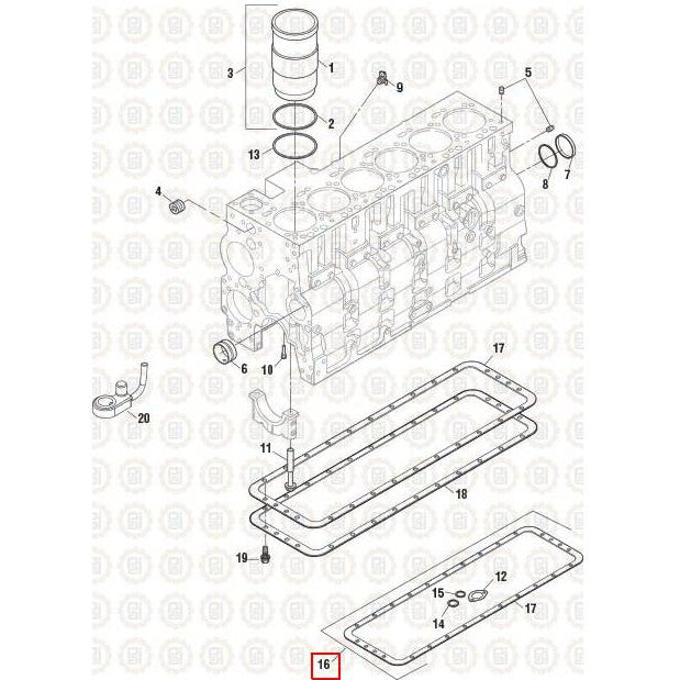 CUMMINS 6CT-8.3 ENGINE PARTS MISC