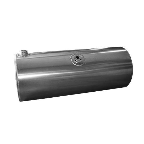 fuel tank for a Volvo, measuring 26 inches X 57 inches and 120 gal., with driver side front fill .