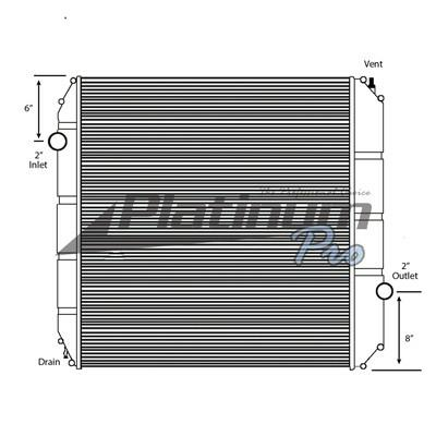 FORD F750SD (SUPER DUTY) RADIATOR ASSEMBLY