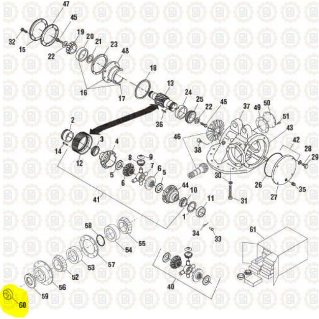 MACK CRD151 DIFFERENTIAL PARTS