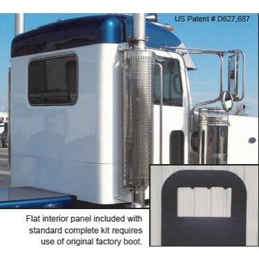 Peterbilt 379. Hood measures 68 inches in length at the centerline and will accommodate aluminum fenders. For premium line, see part number RFV 379 EXHD Hood
