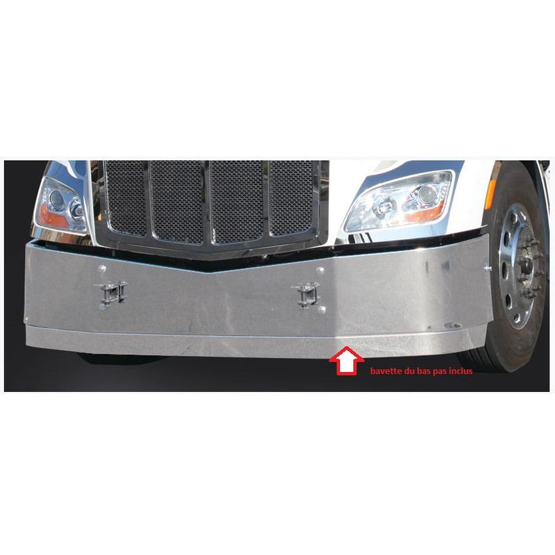 "Peterbilt 388/389 Front Fender Cover With 12"" Light Bar -14 Amber LED Sequential Flash Clear Lens - Driver"