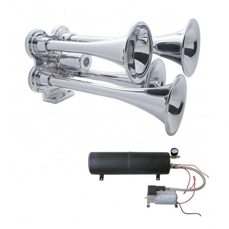 Heavy Duty Air Compressor & Tank Kit For Extended Horn Operation