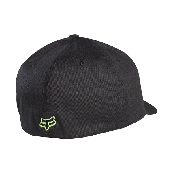2c28790c8397f FOX MENS FLEX 45 FLEXFIT CURVED BRIM HAT BLACK   GREEN – Nifty ...