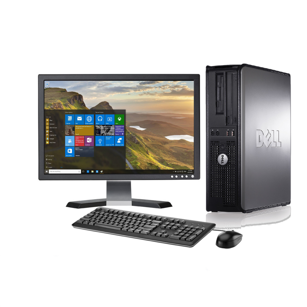 Dell Optiplex Desktop PC Tower - Factory Refurbished- 1 TB with 22 inch Monitor - Includes 2 year warranty