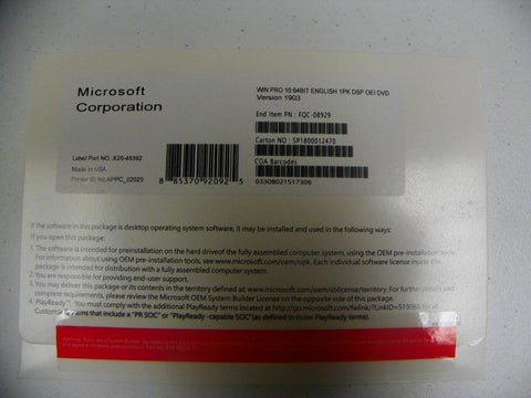 Image of Windows 10 Pro 64bit OEM DVD - Best Price Around