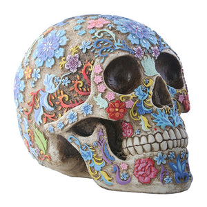 Coloured Floral Skull