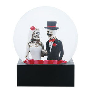 DOD Bride & Groom Water Globe