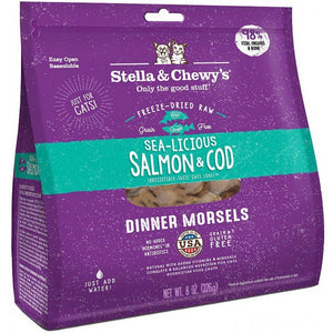8oz STELLA & CHEWY'S 凍乾加營拌糧三文魚及鱈魚肉配方 Freeze Dried Dinner Morsels for Cats - Sea Licious Salmon and Cod