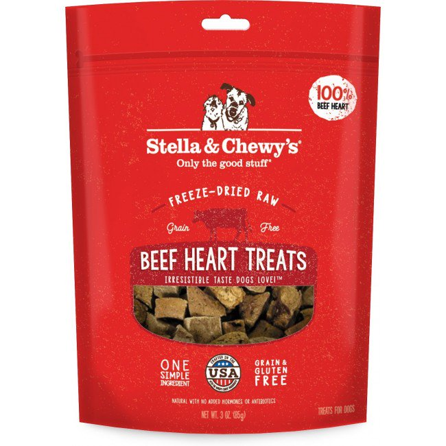STELLA & CHEWY'S 凍乾生內臟小食系列 - 牛心 Freeze Dried Raw Organ Treats 3oz-Beef Heart