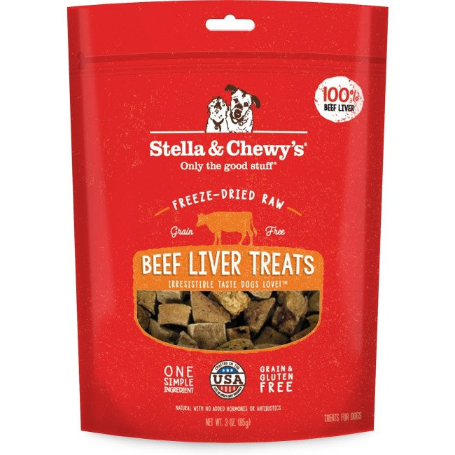 STELLA & CHEWY'S 凍乾生內臟小食系列 - 牛肝 Freeze Dried Raw Organ Treats 3oz-Beef Liver