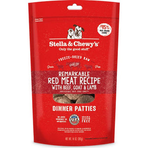 5.5oz STELLA & CHEWY'S 凍乾生肉糧系列 - 牛肉,山羊及羊肉 Dinner Patties Raw Freeze- Dried Remarkable Red Meat