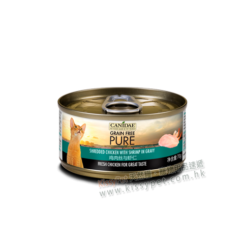 Canidae PURE Cat Can Chicken with Shrimp in Gravy 70g x24