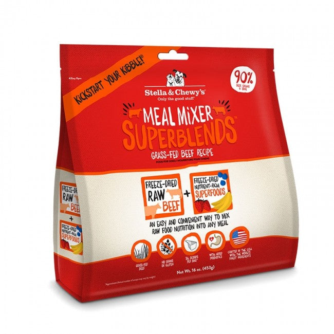 3.5oz STELLA & CHEWY'S 超級乾糧伴侶 草飼牛配方 Meal Mixer Superblends Grass Fed Beef Recipe