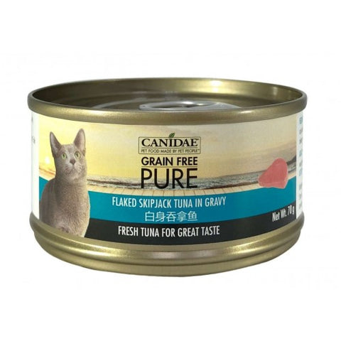 Canidae PURE Cat Can Flaked Skipjack Tuna in Gravy 70g x24