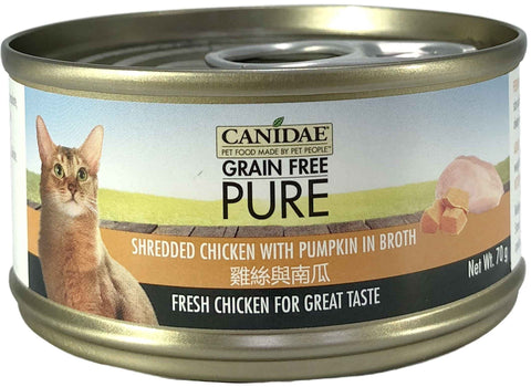 Canidae PURE Cat Can Chicken with Pumpkin in broth 70g x24