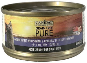 Canidae PURE Cat Can Sardine Cutlet with Shrimp and Crabmeat in Shrimp Consomme 70g x24
