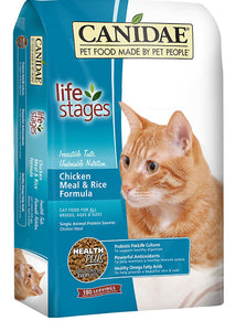 Canidae All Life Stages Cat Food Made with Chicken Meal & Rice 8lb