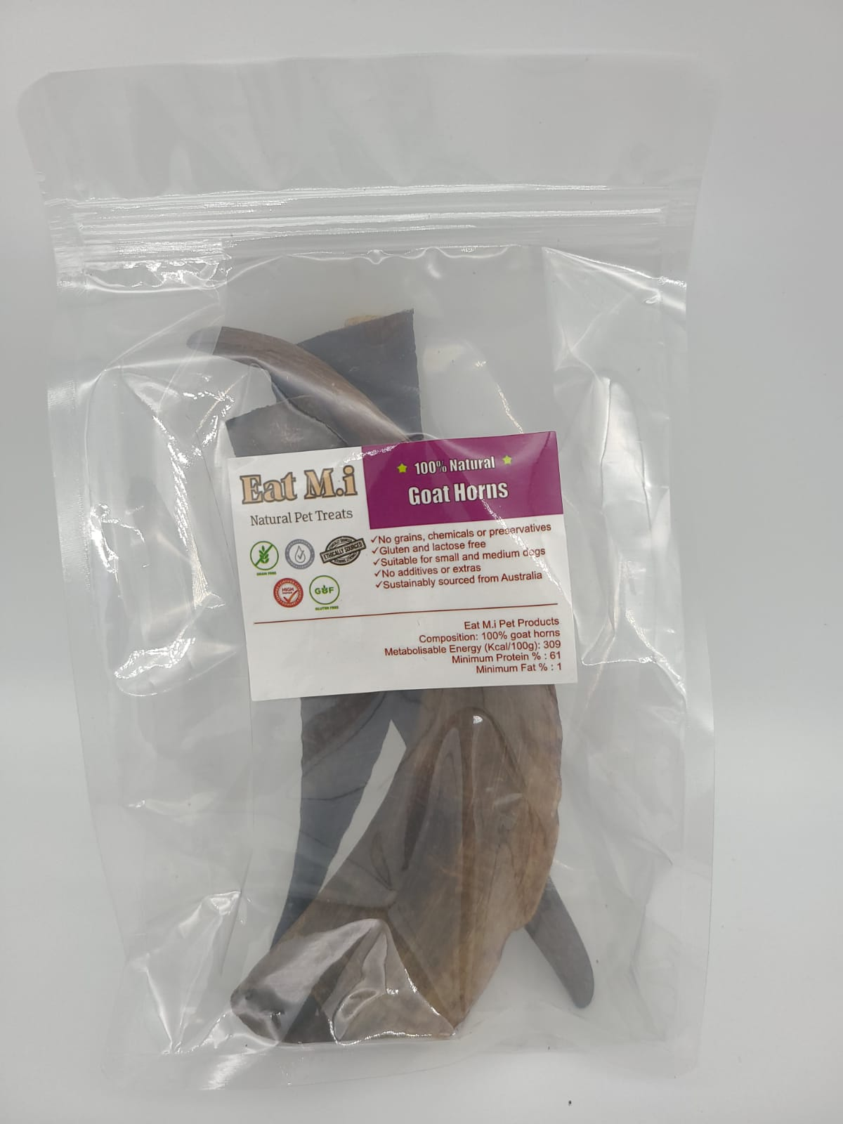 Eat M.i. (AUSTRALIA) Goat Horns (small) 15cm - 18cm