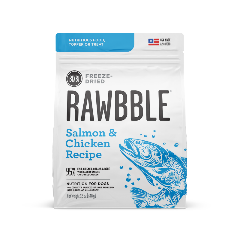 BIXBI Rawbble Dog Freeze Dried Salmon & Chicken 12oz