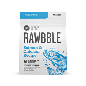 BIXBI Rawbble Dog Freeze Dried Salmon & Chicken 4.5oz