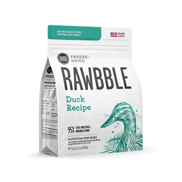 BIXBI Rawbble Dog Freeze Dried Duck 12oz