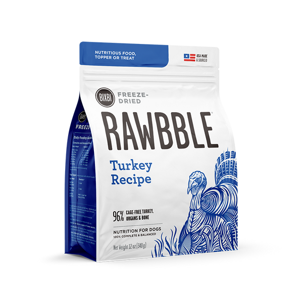 BIXBI Rawbble Dog Freeze Dried Turkey 12oz
