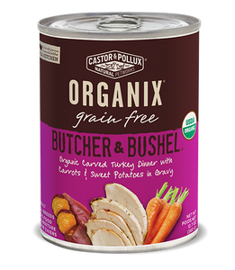 Organix Dog Can Organic Carved Turkey Dinner 12.7oz x12 -->$27/can!<--