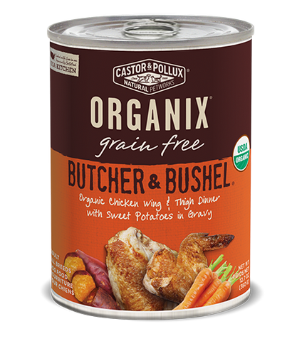 Organix Dog Can Organic Chicken Wing & Thigh Dinner 12.7oz x12 -->$27/can!<--