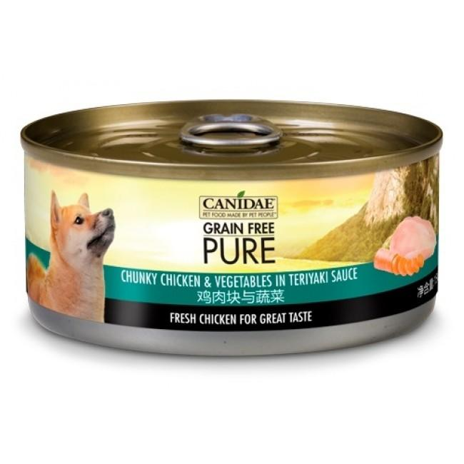 Canidae PURE Dog Can Chunky Chicken & Vegetables in Teriyaki Sauce 156g x24