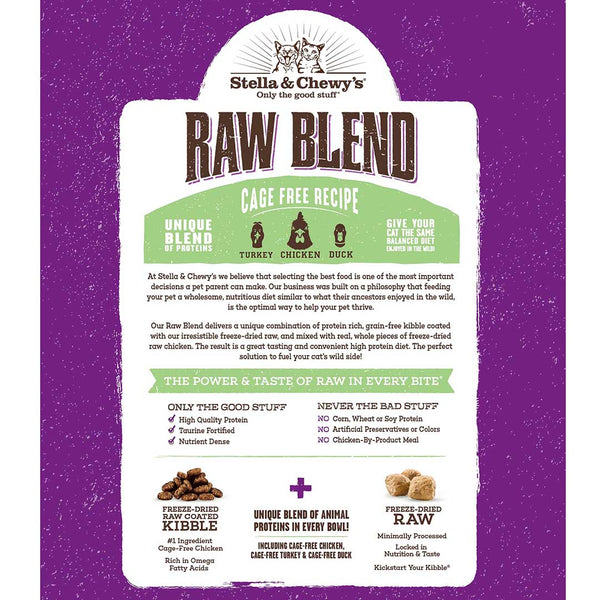 2.5lb Stella & Chewy's Raw Blend Cage Free Recipe for Cats