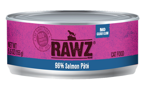 Rawz Cat Canned Food - 96% Salmon Pate 155g x24 -->$26/can!<--