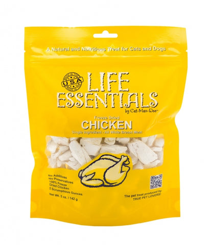 Cat-Man-Doo Life Essentials Freeze Dried Chicken 5oz