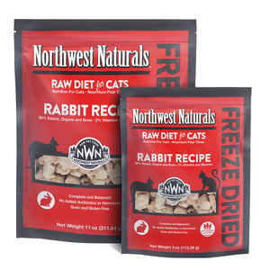 Northwest Naturals For Cat Freeze Dried Rabbit 11oz