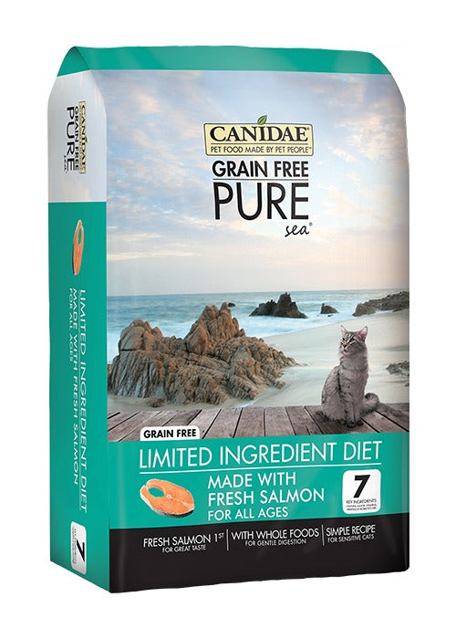 Canidae Grain Free PURE Sea Adult Kitten & Senior Formula Made With Fresh Salmon 5lb