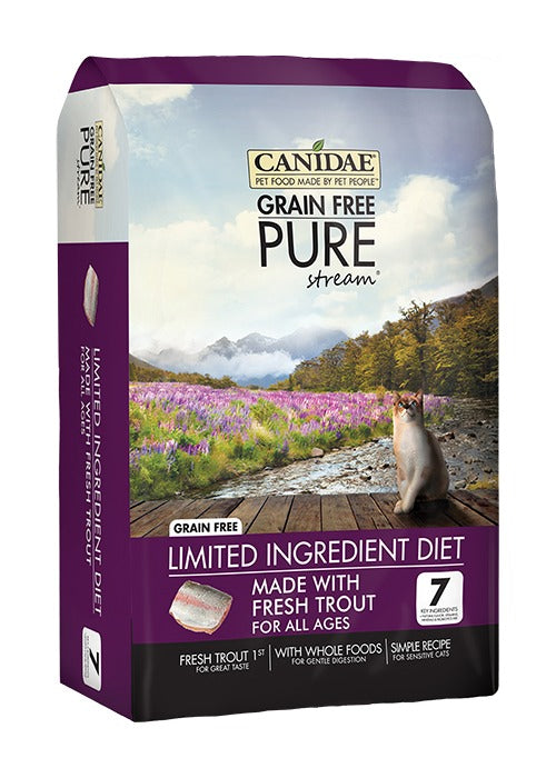 Canidae Grain Free PURE Stream Adult Kitten & Senior Formula Made With Fresh Trout 10lb