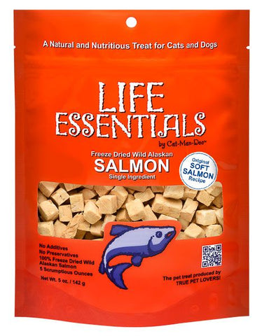 Cat-Man-Doo Life Essentials Freeze Dried Wild Alaskan Salmon 5oz