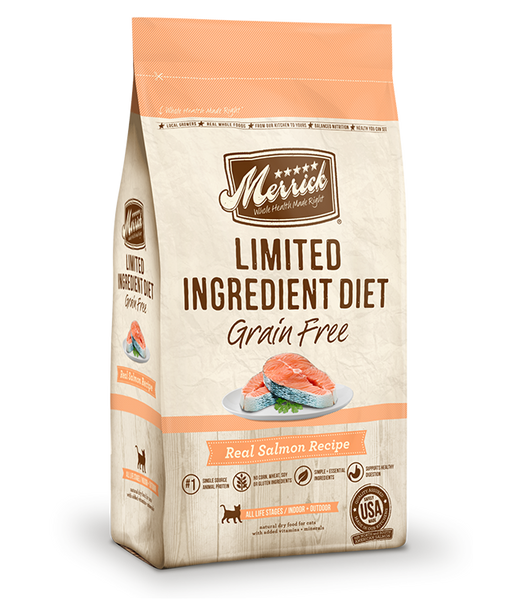 Merrick Cat Grain Free Limited Ingredient Diet Salmon 7lb