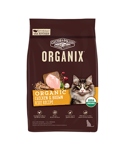 Organix Cat Organic Chicken & Brown Rice Recipe 6lb