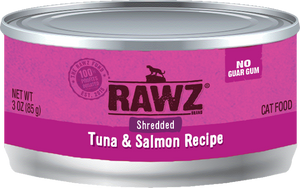 Rawz Cat Canned Food - Shredded Tuna & Salmon 155g x24 -->$26/can!<--