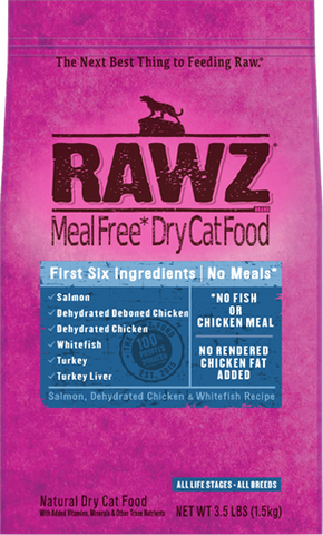 Rawz Meal Free Cat Food - Salmon, Dehydrated Chicken & Whitefish 7.8lb