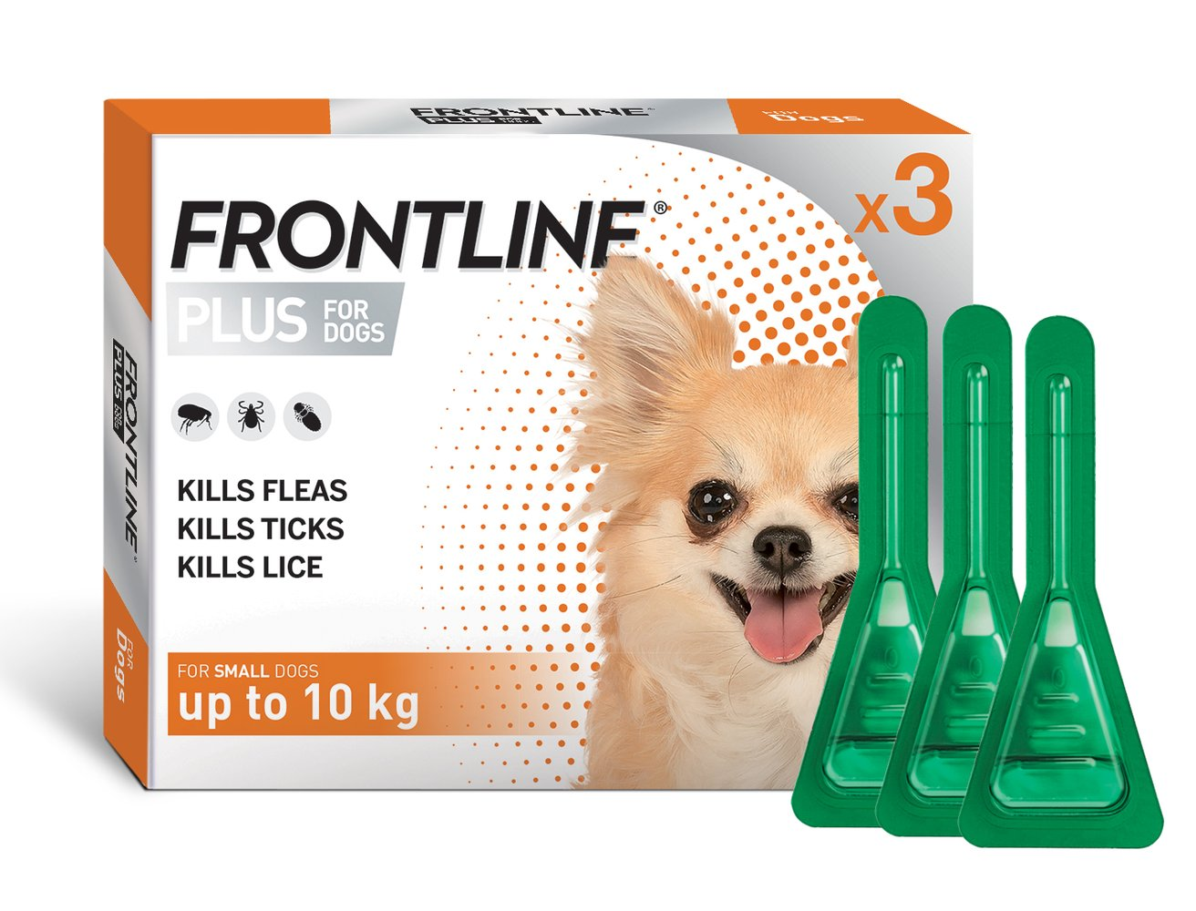 Frontline Plus for Small Dogs 3 doses 0-10kg