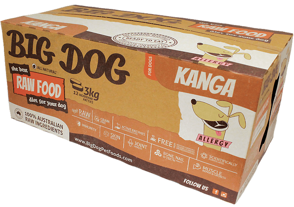 Big Dog for Dog - Frozen - Kangaroo 4 boxes -->$270/box!<--