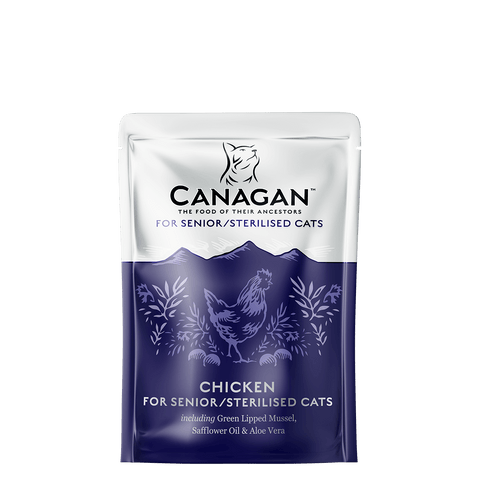 Canagan Dog Can Chicken for Senior/Sterilised 85gx8 -->$17/pouch!<--