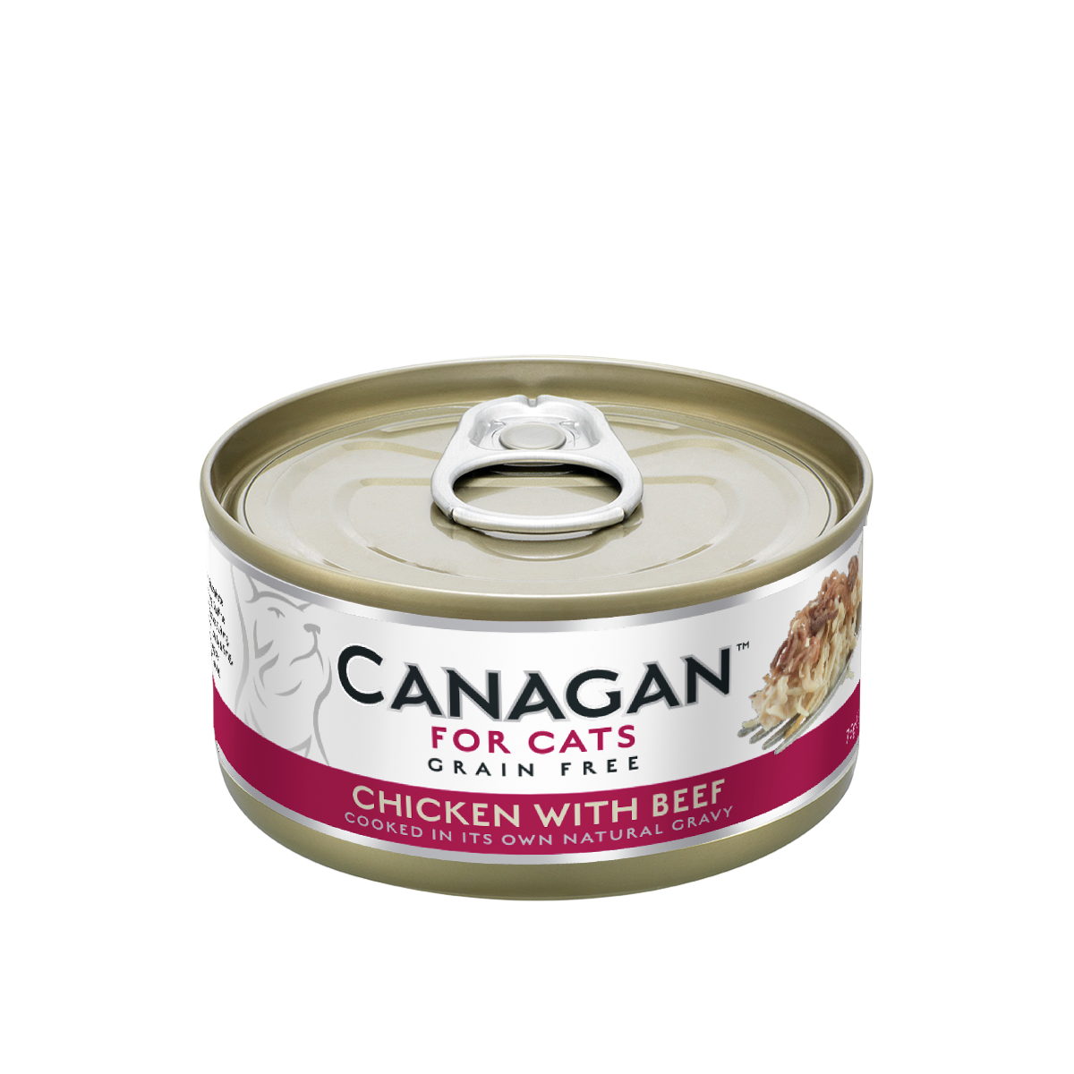 Canagan Cat Can Wet Chicken with Beef 75gx12 --<$14/can!>--