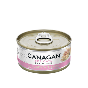 Canagan Cat Can Wet Chicken with Ham 75gx12 --<$14/can!>--