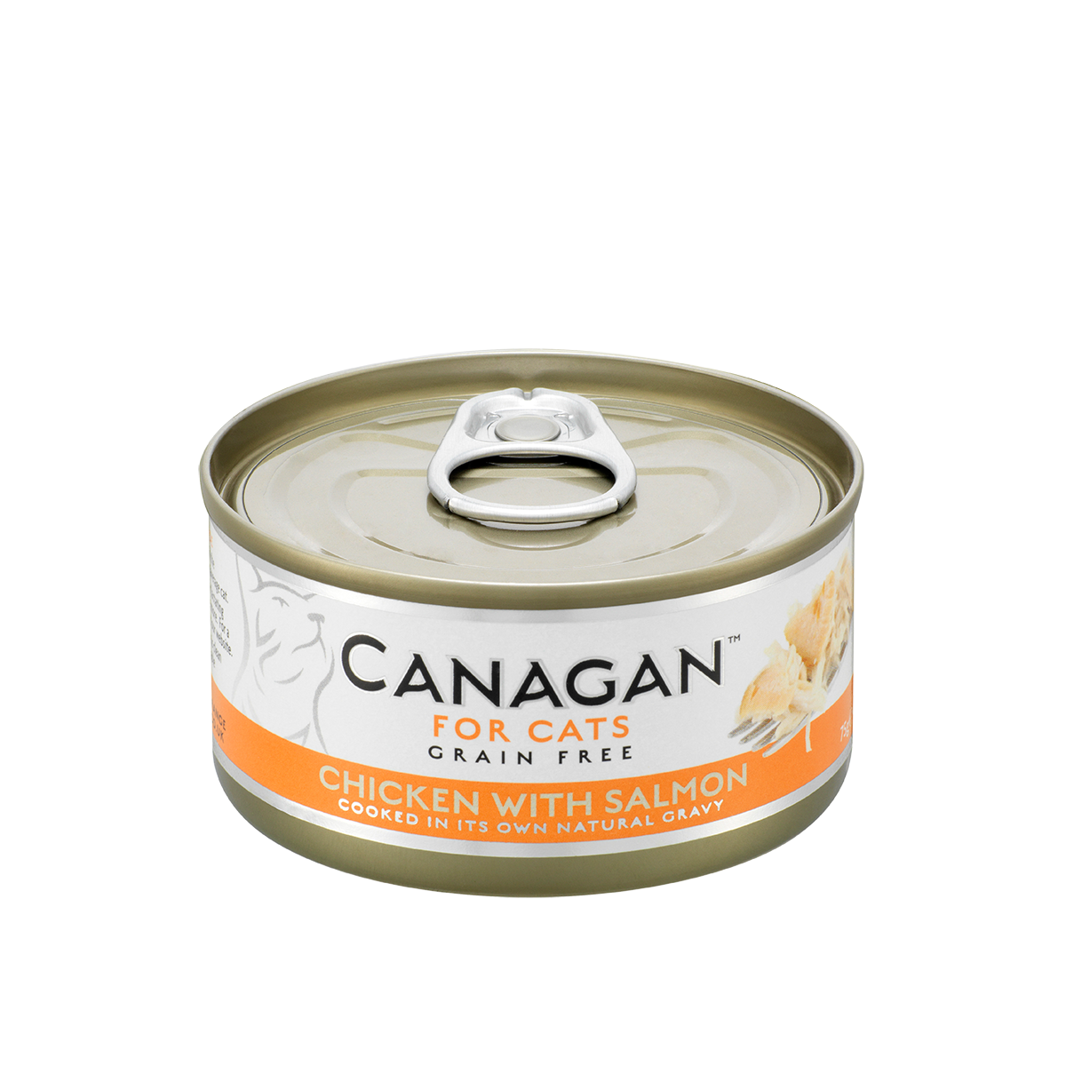 Canagan Cat Can Wet Chicken with Salmon 75gx12 --<$14/can!>--