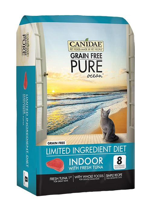Canidae Grain Free PURE Ocean Indoor Cat Formula Made With Fresh Tuna 10lb